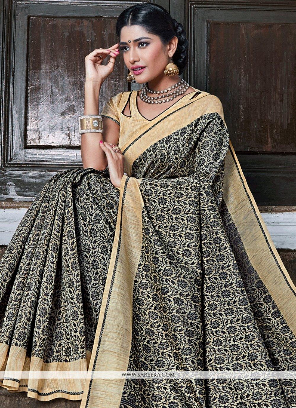 Grey Banarasi Silk Traditional  Saree