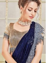Half N Half Designer Saree For Reception
