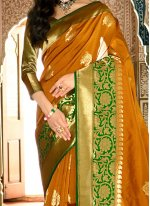 Handloom silk Weaving Work Traditional Designer Saree