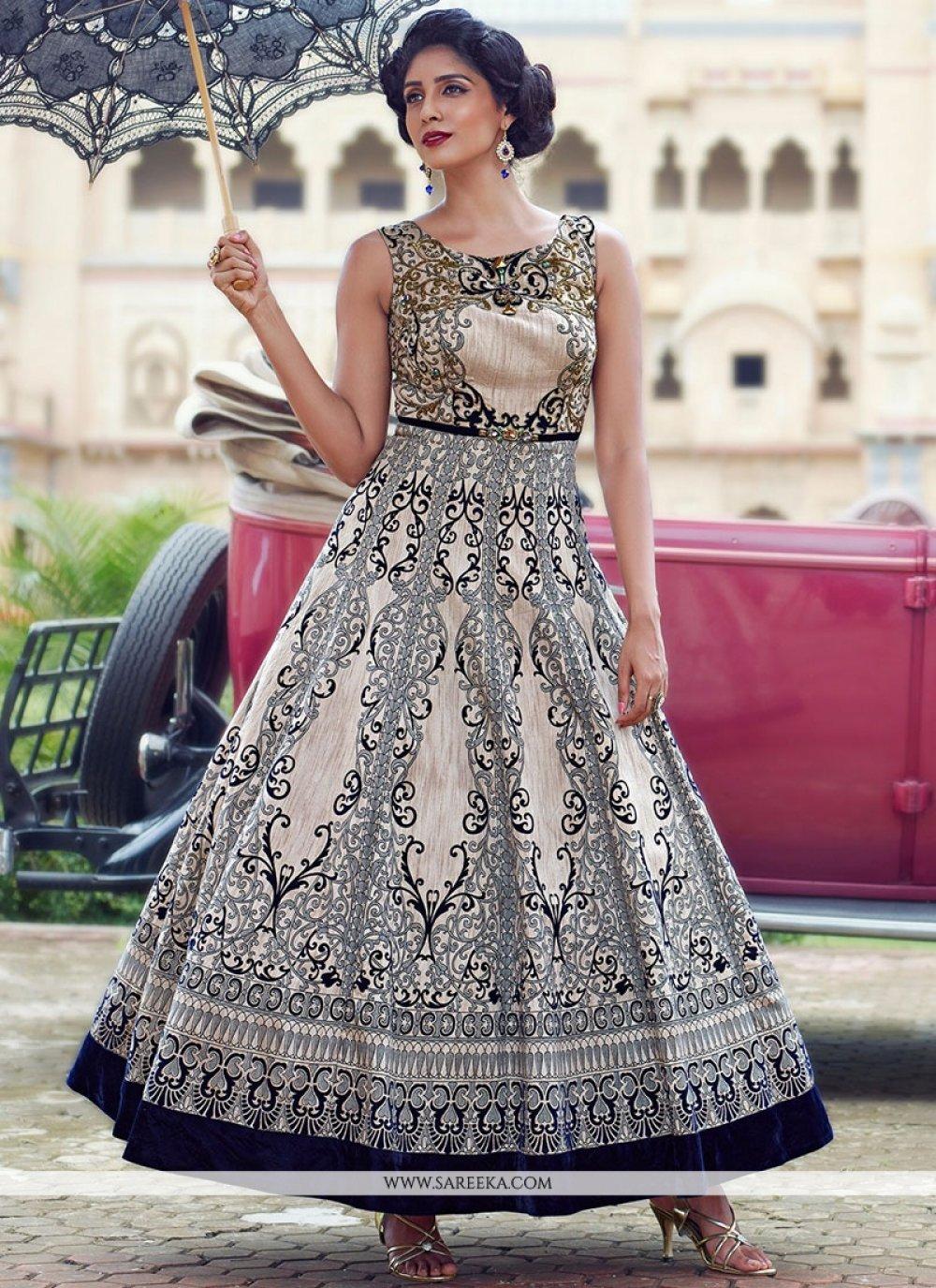 Banglori Silk Multi Colour Anarkali Salwar Kameez