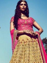 Resham Work Bhagalpuri Silk Lehenga Choli