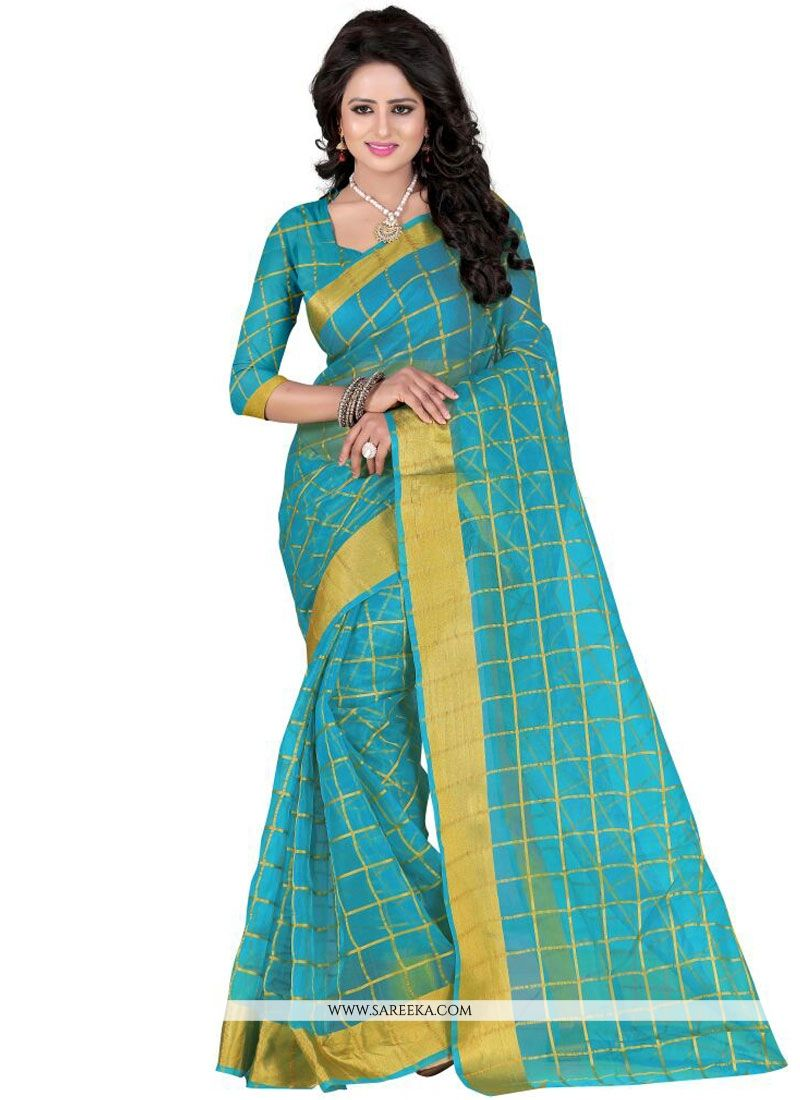 Polly Cotton Patch Border Work Casual Saree