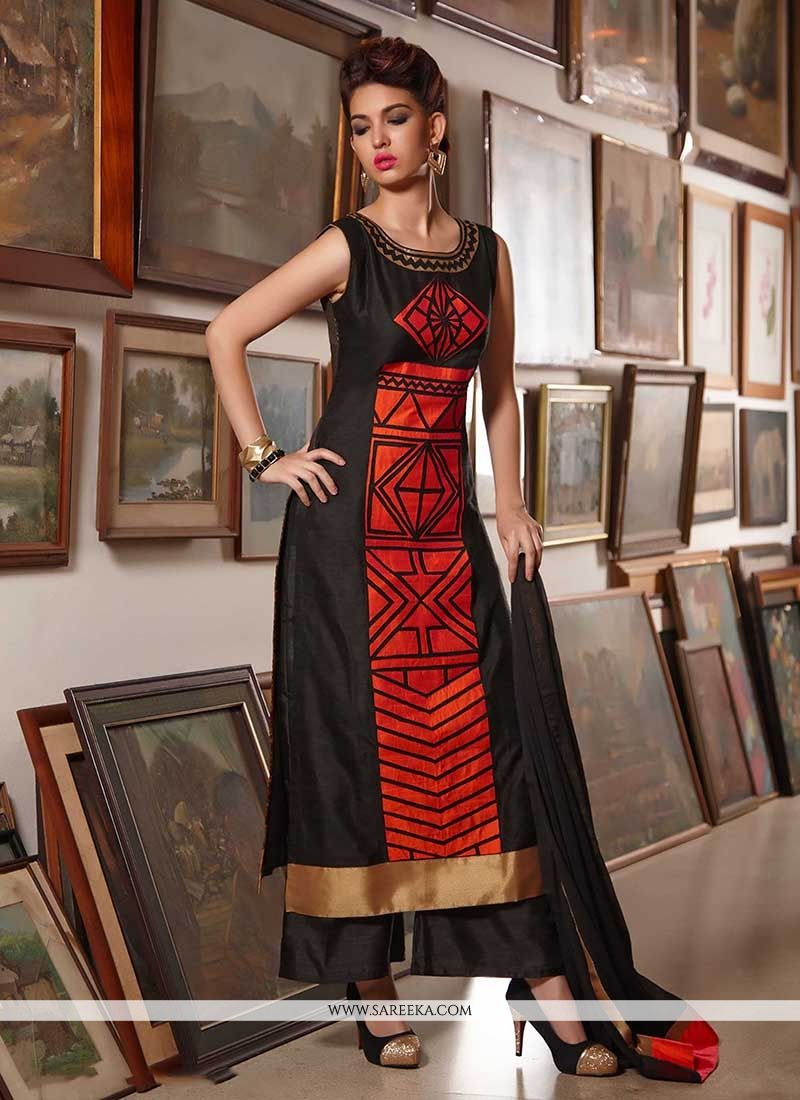 bdcd55b15d8 Buy Black and Red Party Wear Kurti Online   Canada -