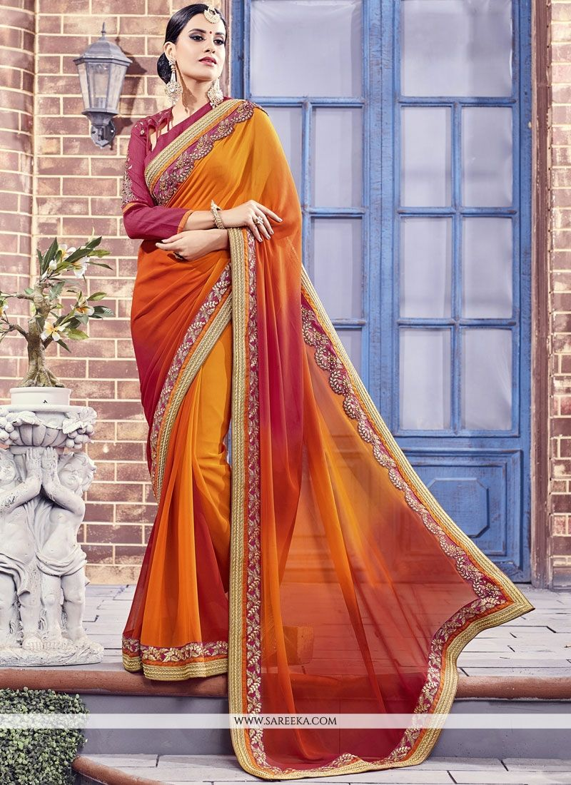 Multi Colour Fancy Fabric Classic Designer Saree
