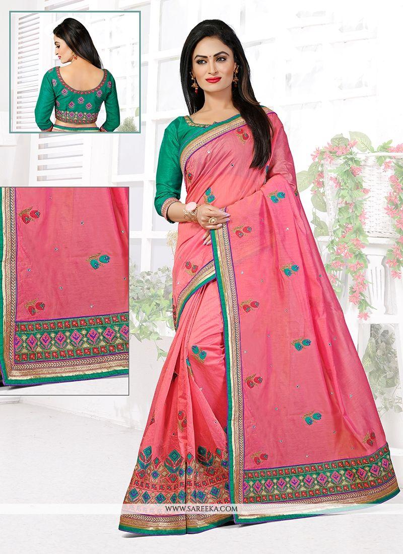 3245e1727ec Buy Chanderi Designer Traditional Saree Online   UK -
