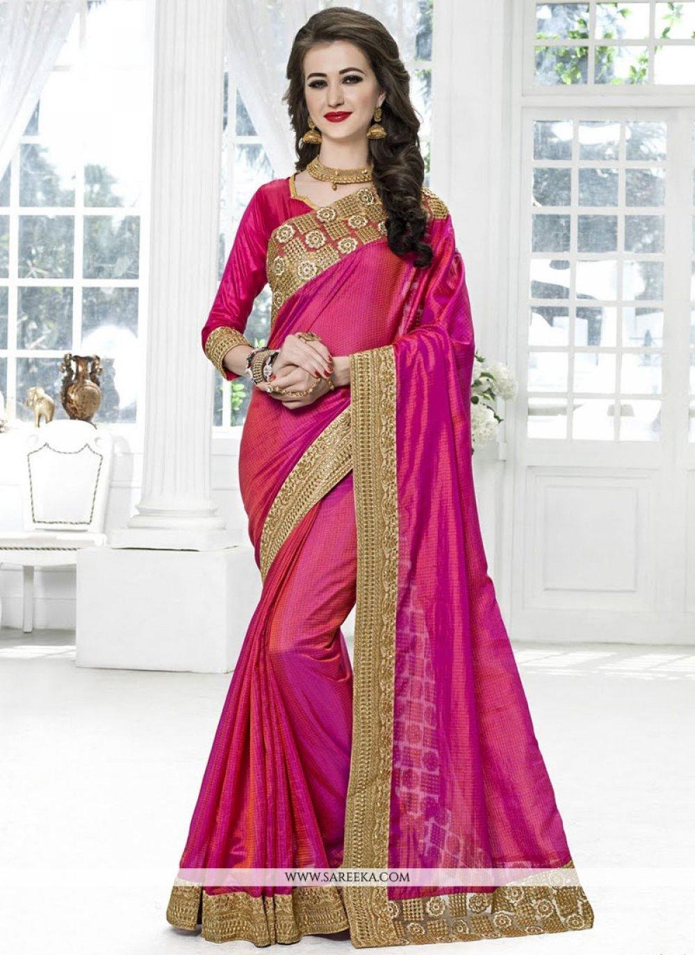 Magenta Traditional Designer Saree