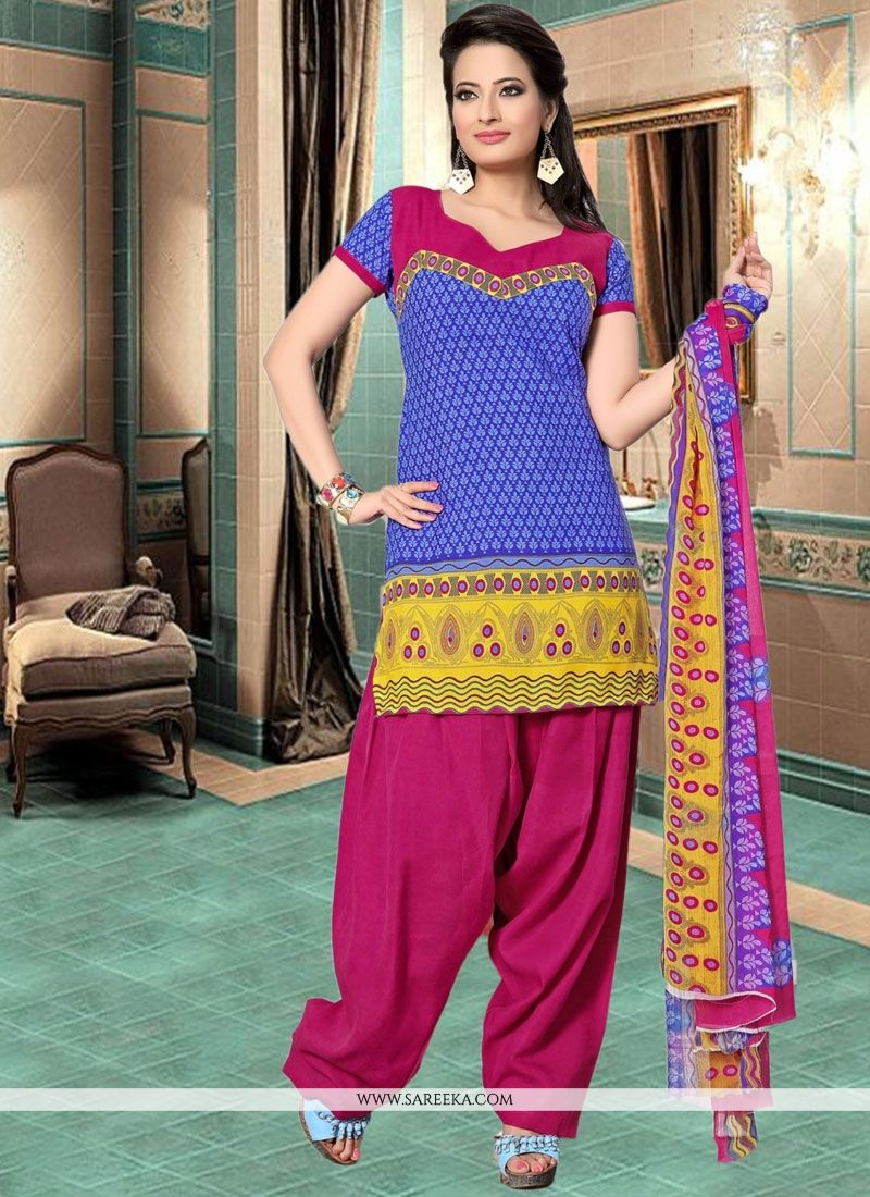 Print Work Cotton   Churidar Suit