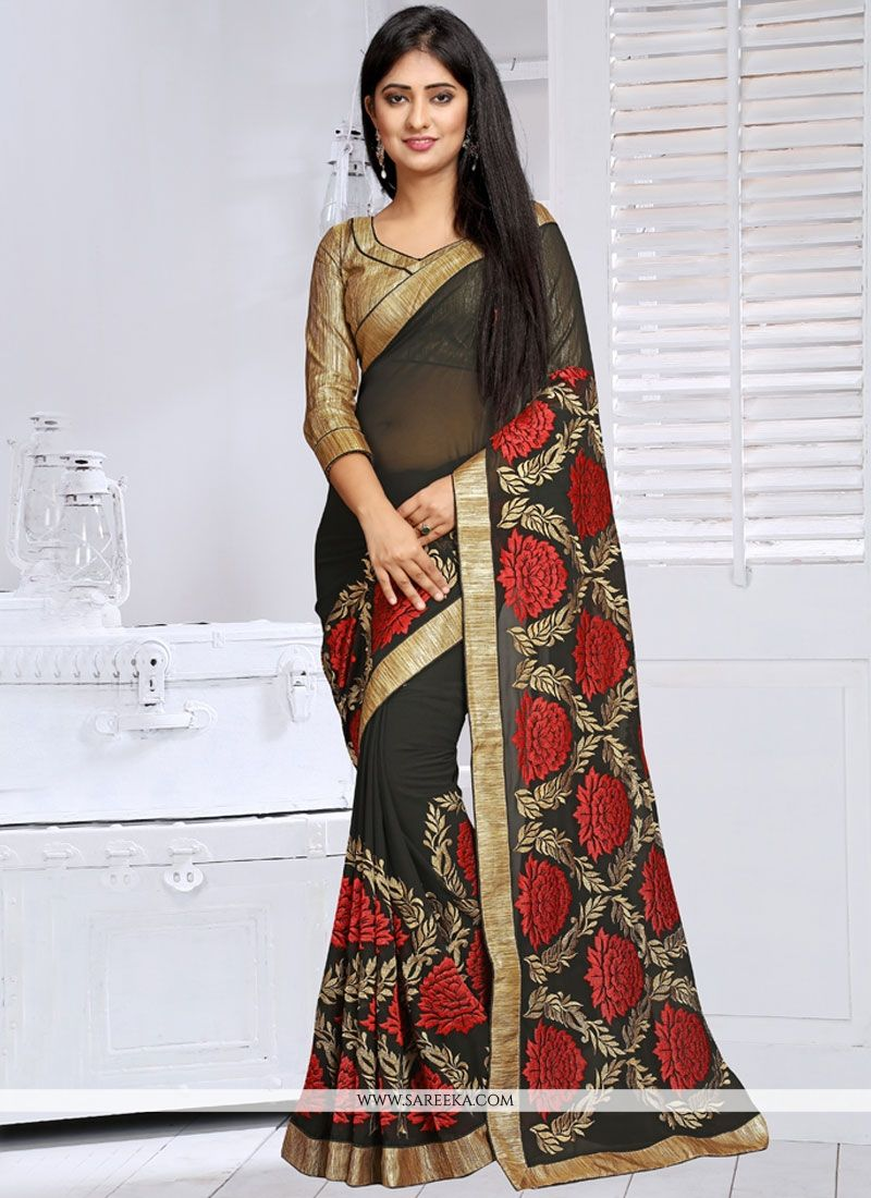 Faux Georgette Designer Saree
