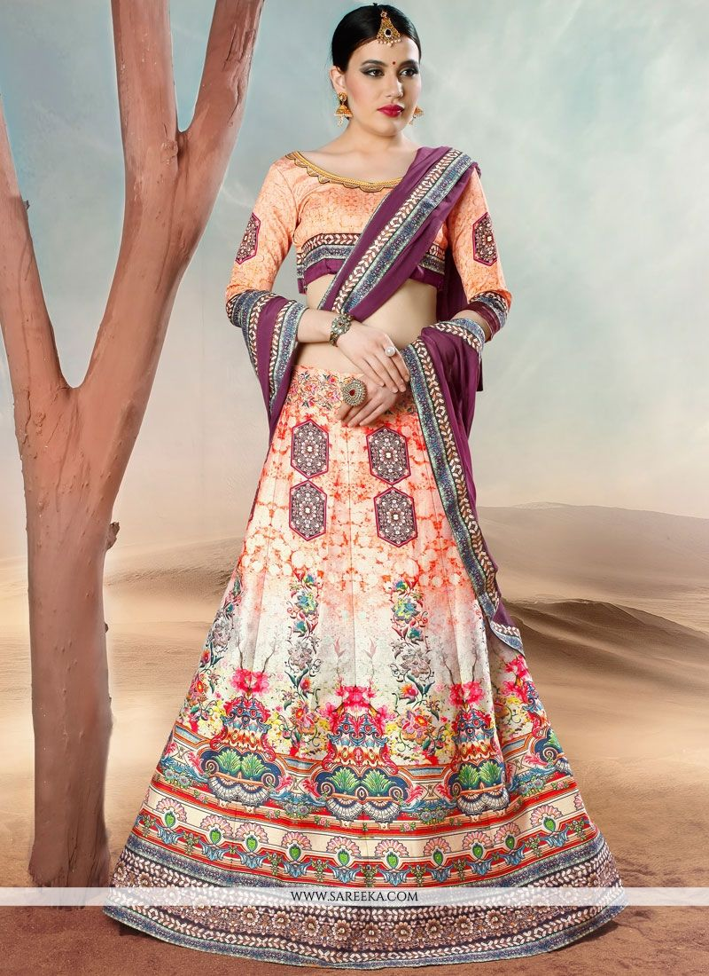 Lace Work Banarasi Silk Lehenga Choli