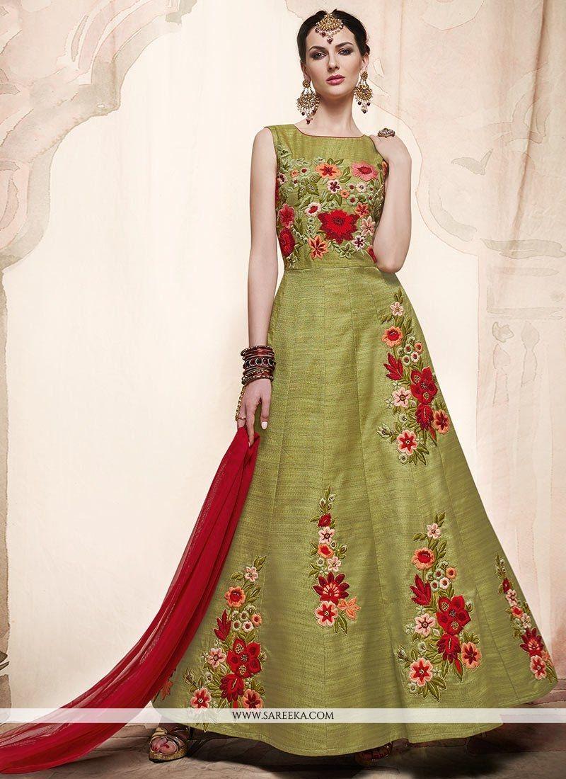 Stone Work Floor Length Anarkali Suit