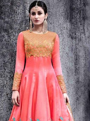 Rose Pink Floor Length Anarkali Suit