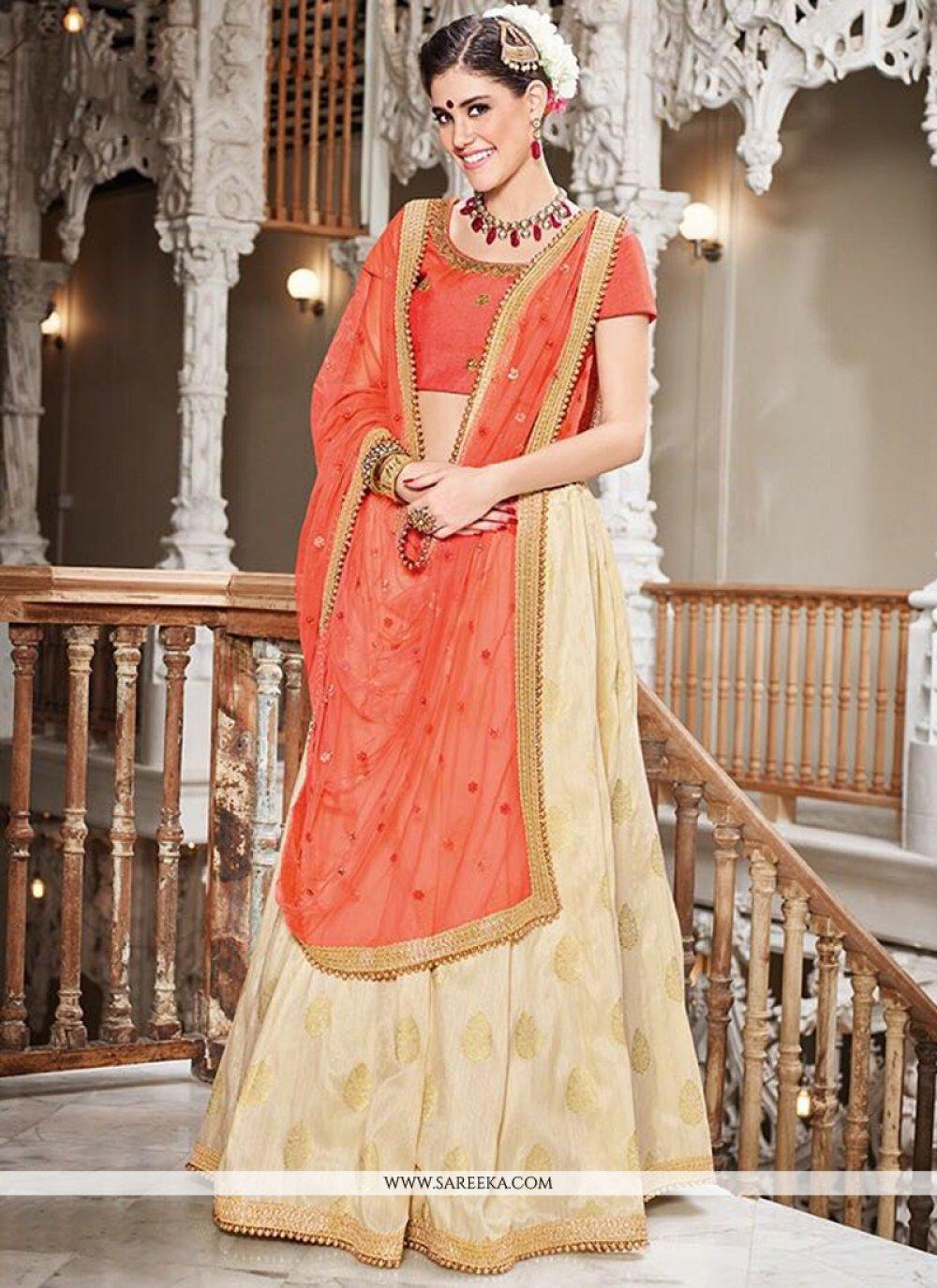 Jacquard Lace Work Lehenga Choli