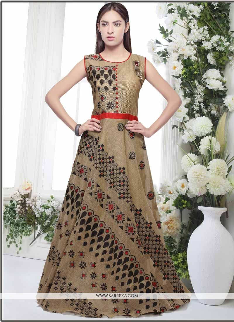 Banarasi Silk Readymade Gown