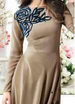 Jennifer Winget Beige and Teal Faux Georgette Floor Length Anarkali Suit