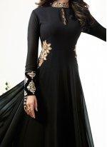 Jennifer Winget Black Floor Length Anarkali Suit