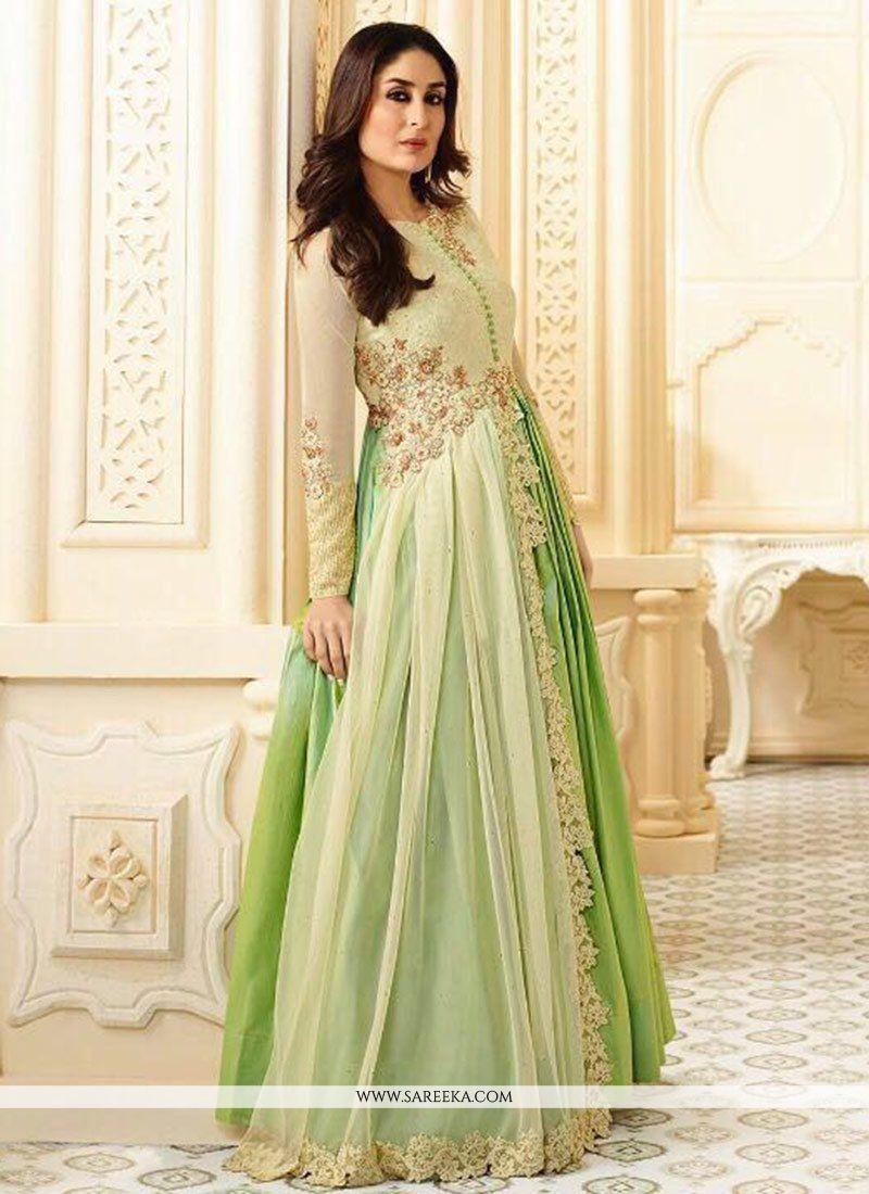 Kareena Kapoor Lace Work Faux Georgette Floor Length Anarkali Suit