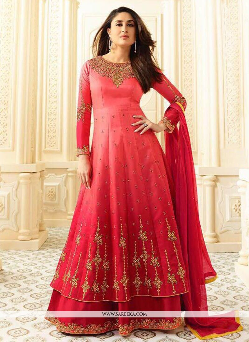 Kareena Kapoor Lace Work Floor Length Anarkali Suit