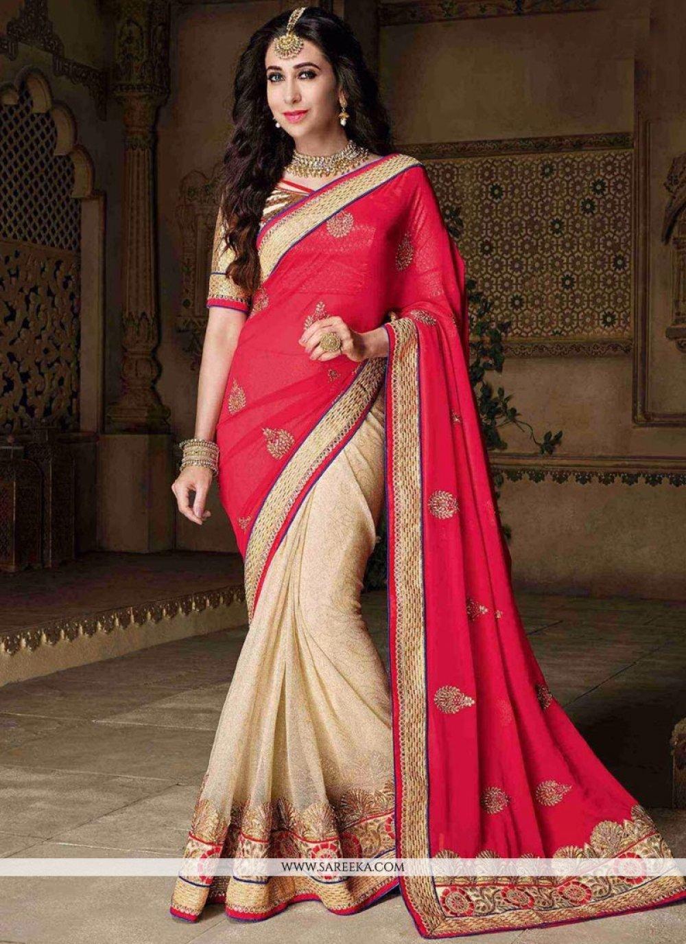 Karishma Kapoor Designer Half N Half Saree For Wedding
