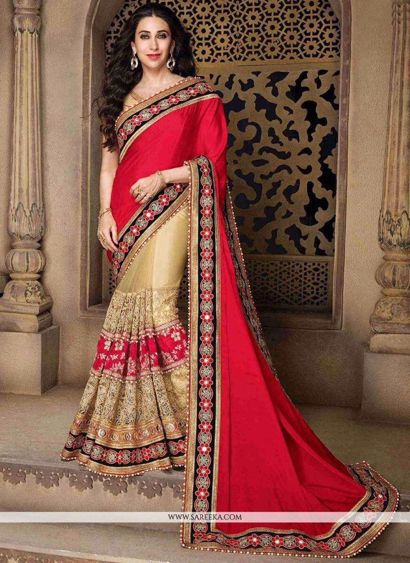 Karishma Kapoor Net Designer Half N Half Saree