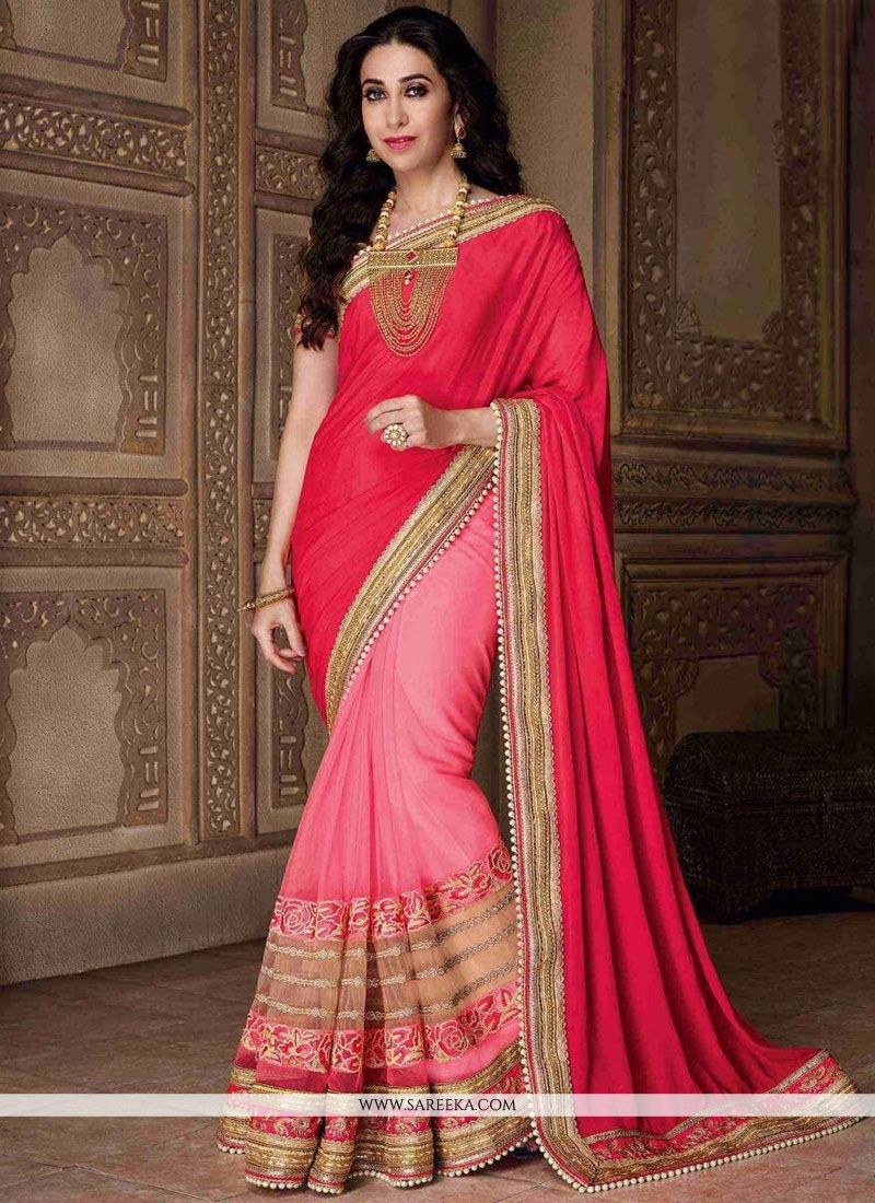 Karishma Kapoor Patch Border Work Half N Half  Saree
