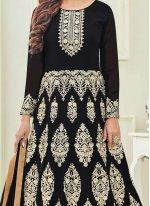 Krystle Dsouza Black Floor Length Anarkali Suit