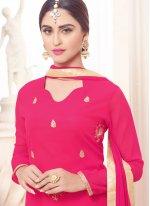 Krystle Dsouza Hot Pink Designer Palazzo Suit