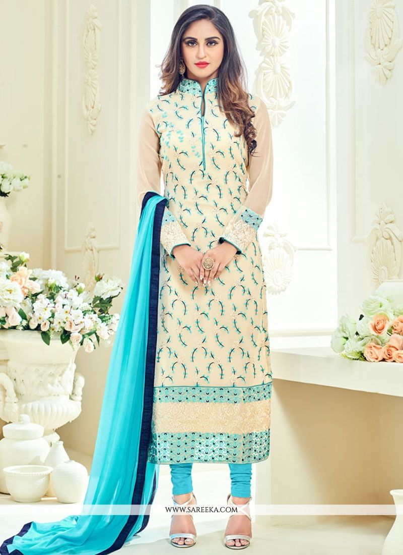 Krystle Dsouza Lace Work Churidar Designer Suit