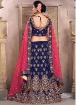 Lace Work Art Silk Lehenga Choli