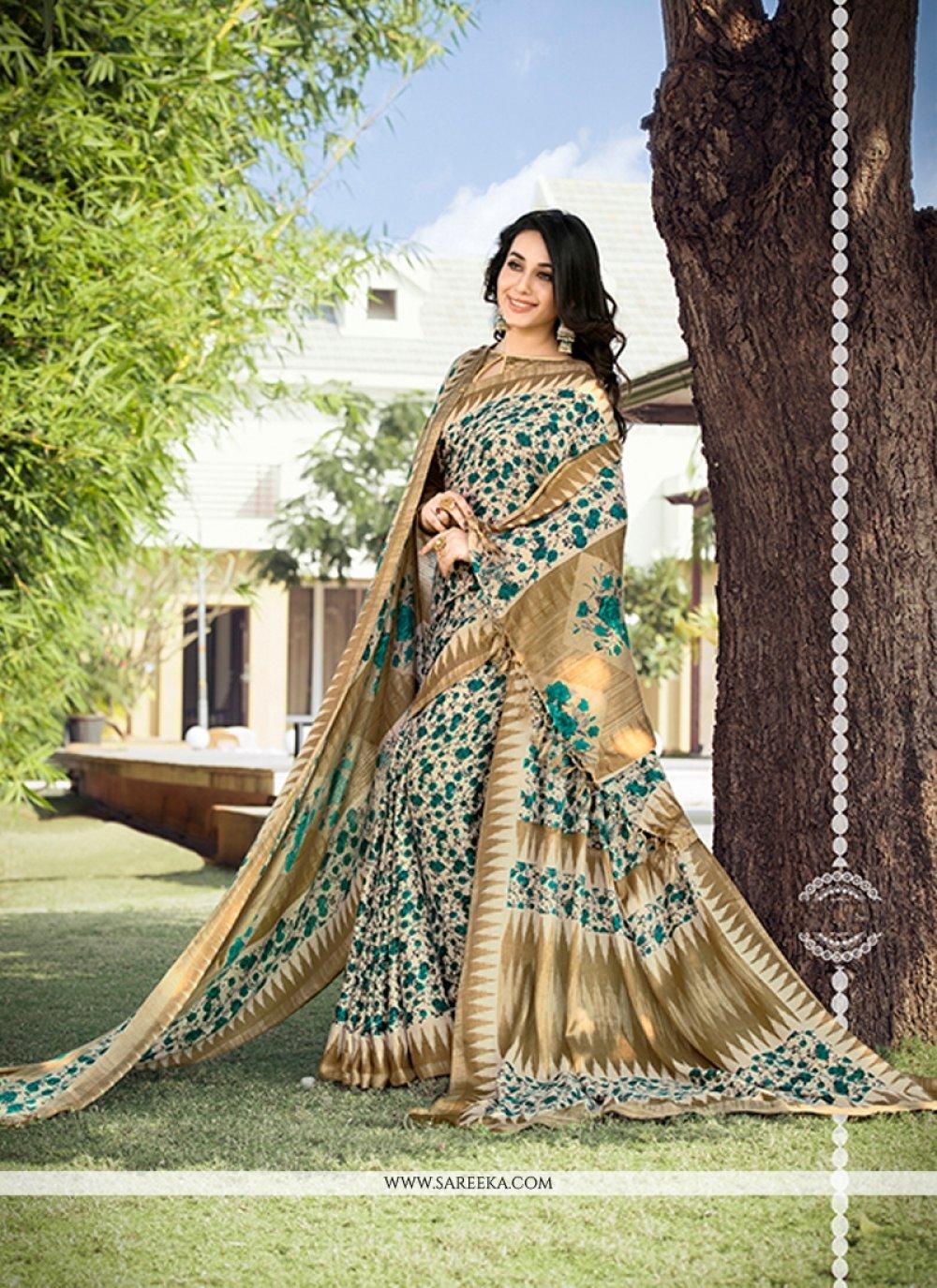 pashnima silk Print Work Printed Saree