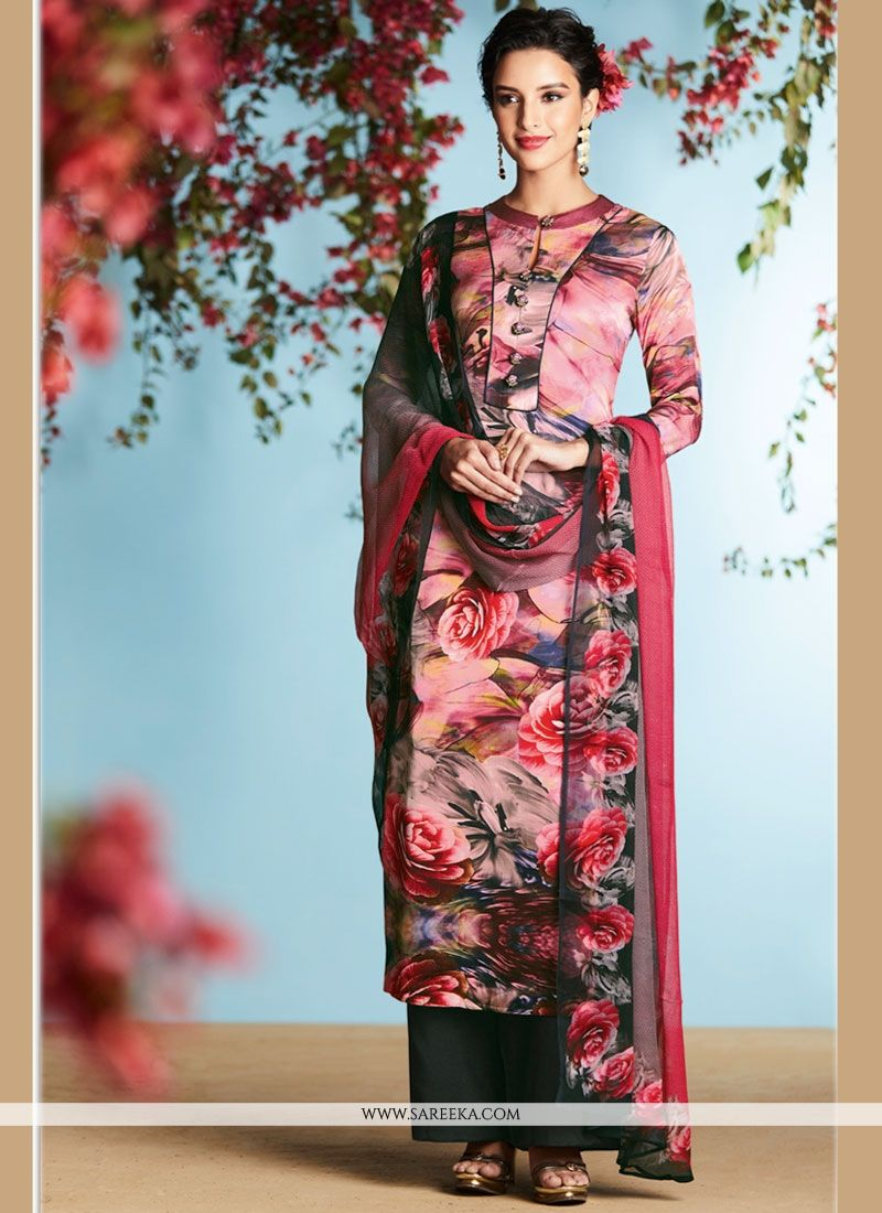 b3891af2e Buy Georgette Digital Print Work Palazzo Suit Online at lowest price -