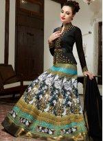 Embroidered Work Art Silk Multi Colour Floor Length Anarkali Salwar Suit