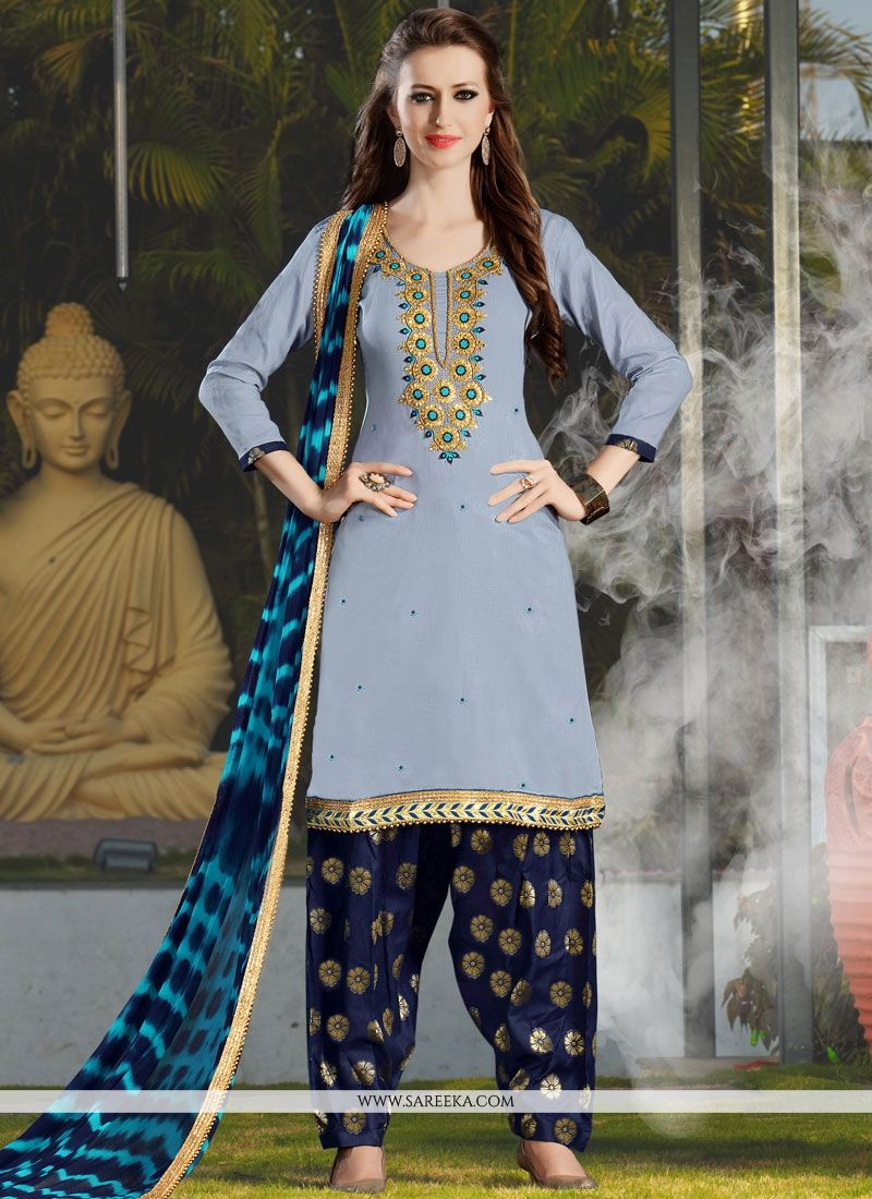 Grey Punjabi Suit