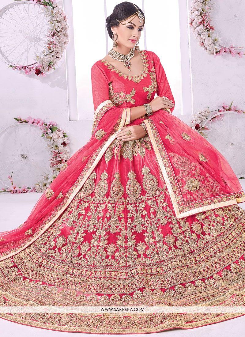 51f8e66ec Buy Net Rose Pink Lehenga Choli Online at lowest price -