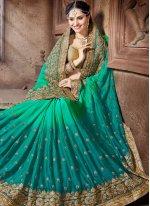 Crepe Silk Patch Border Work Designer Traditional Saree