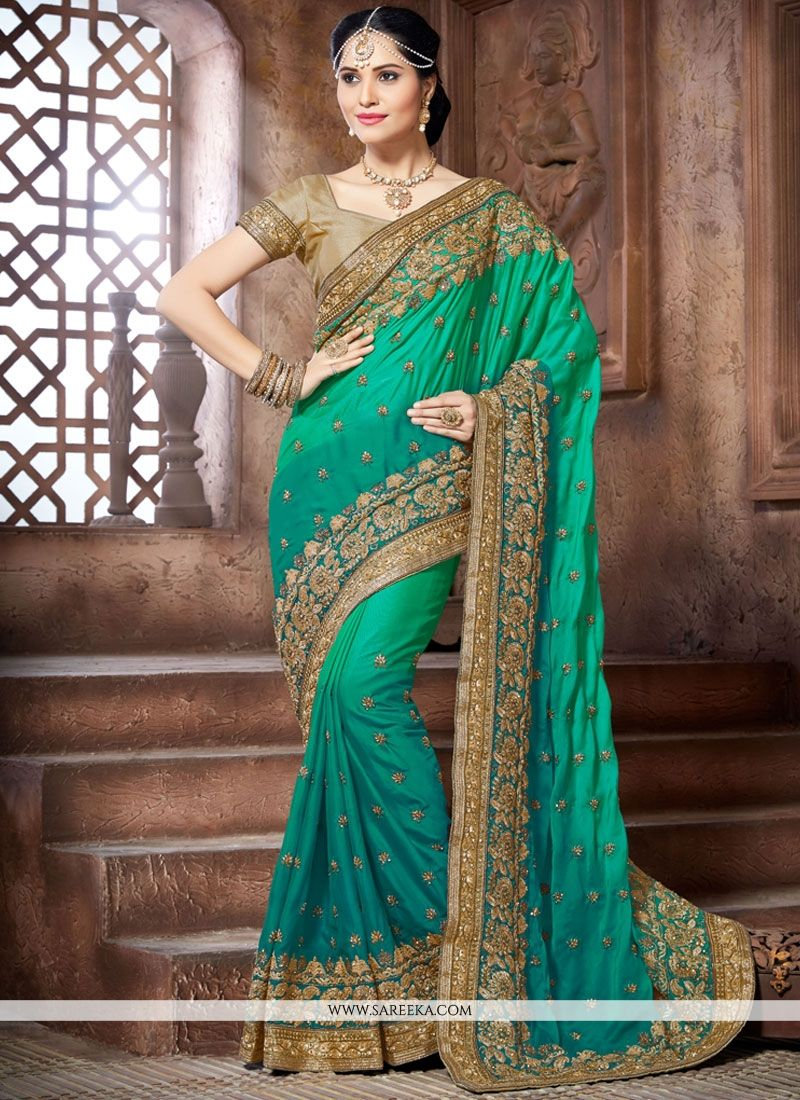 Crepe Silk Patch Border Work Designer Traditional Saree