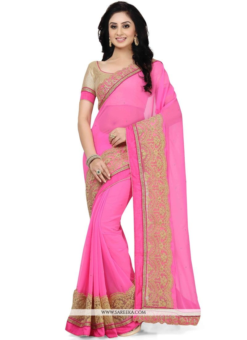 Buy pink saree online singapore party wear sarees for Pictures to buy online