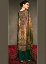 Multi Colour Designer Straight Suit