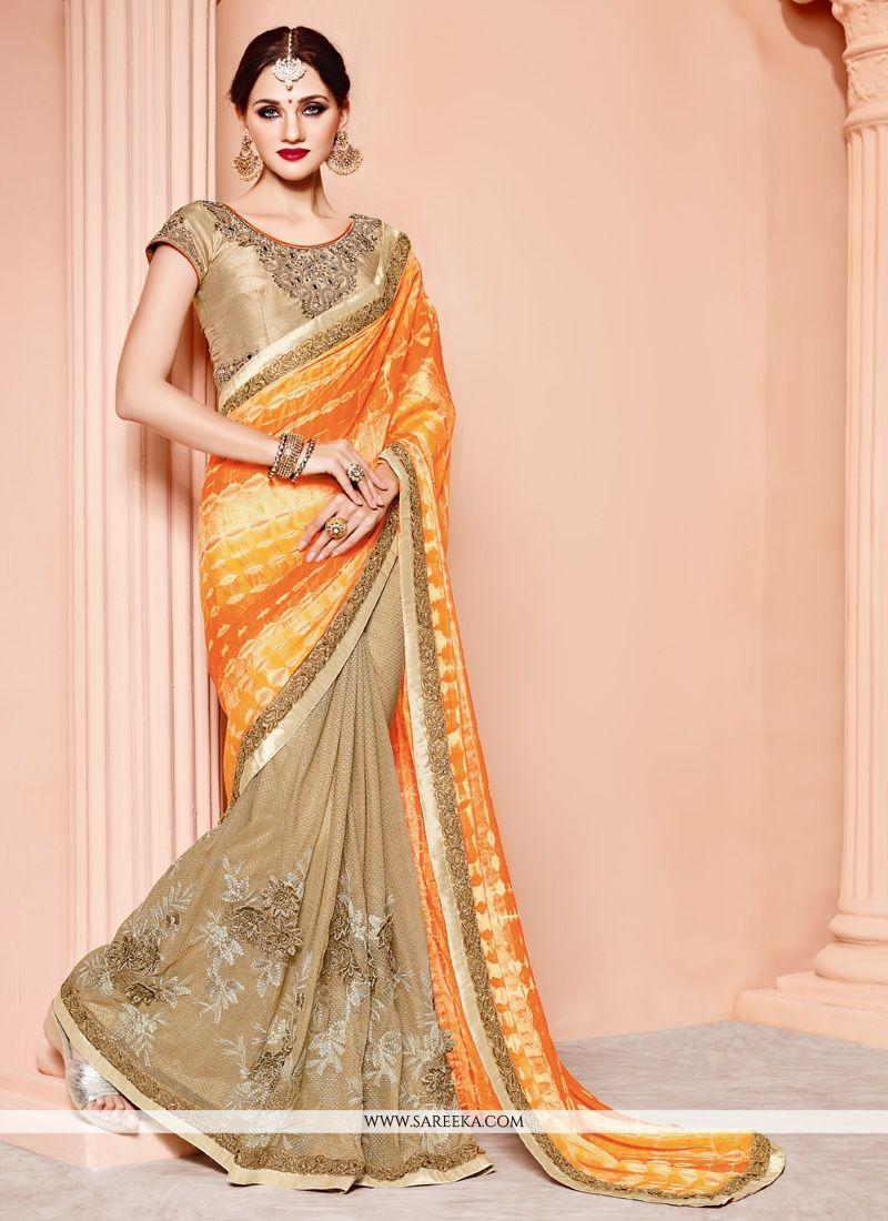 Looks - Viscose Awesome half n half saree collection video