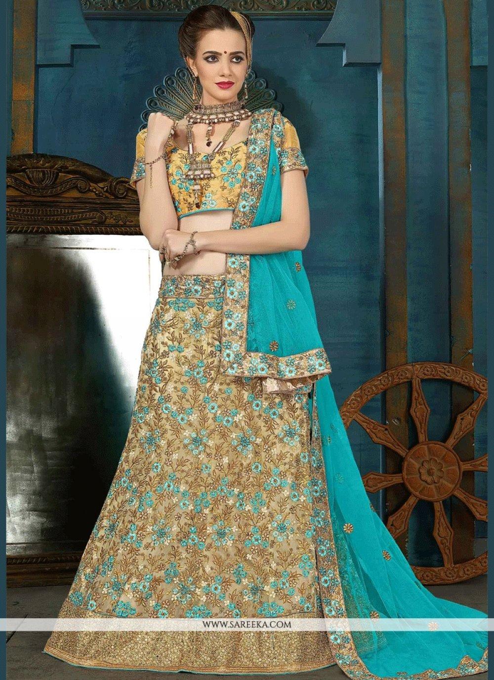 Net Embroidered Work Lehenga Choli