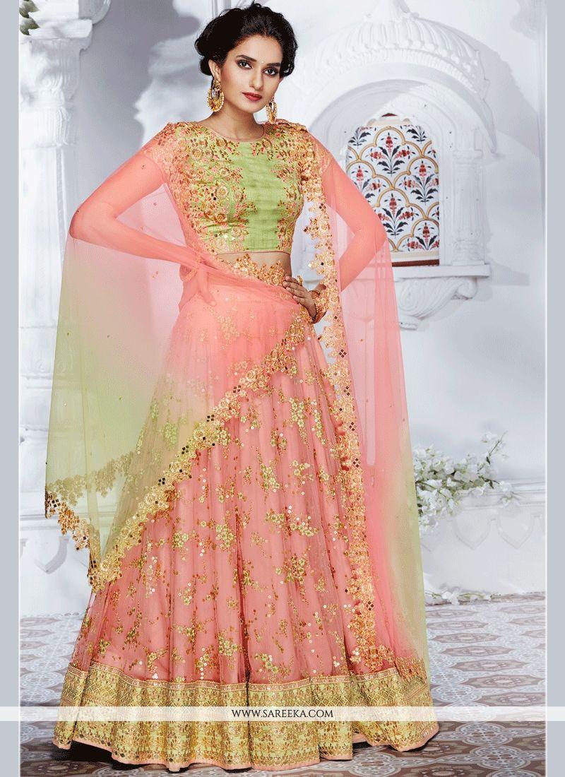 06cf7f5ff0 Buy Net Pink Resham Work Lehenga Choli : 65003 -