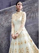 Lace Work Net Floor Length Anarkali Suit