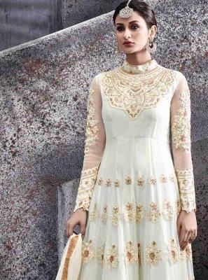 Lace Work Net Floor Length Anarkali Suit