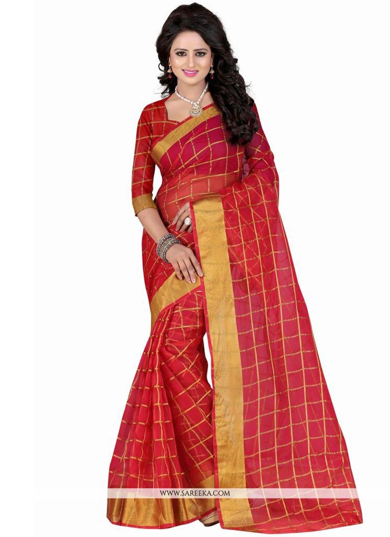 Patch Border Work Casual Saree