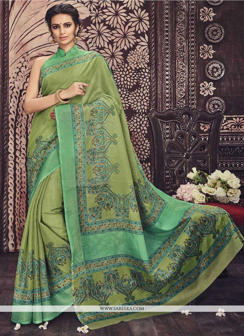Perfervid Art Silk Casual Saree