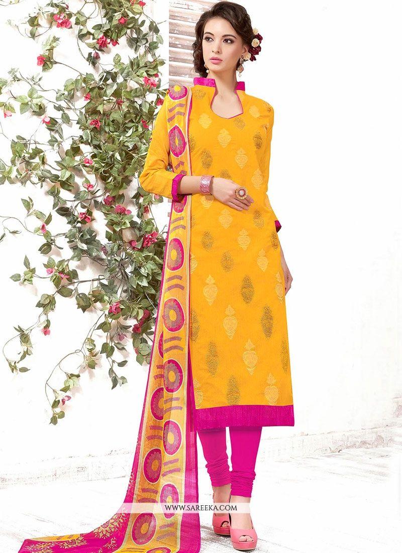 Yellow Churidar Suit