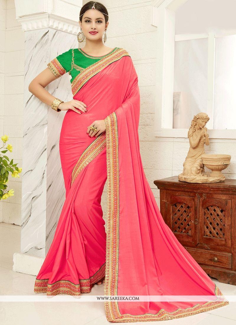 Pink Saree: Pink Traditional Saree Buy Online