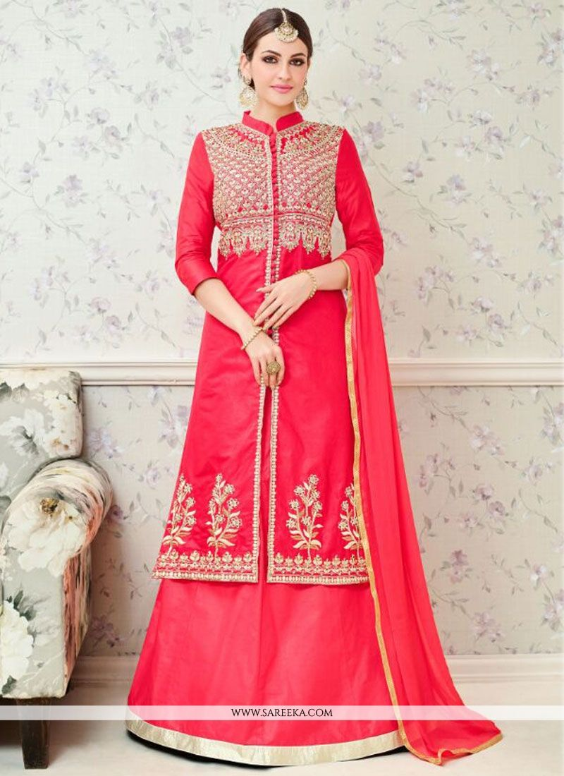0765441920 Buy Hot Pink Embroidered Work Long Choli Lehenga Online : South Africa -