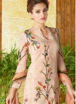 Print Work Cotton   Multi Colour Churidar Designer Suit