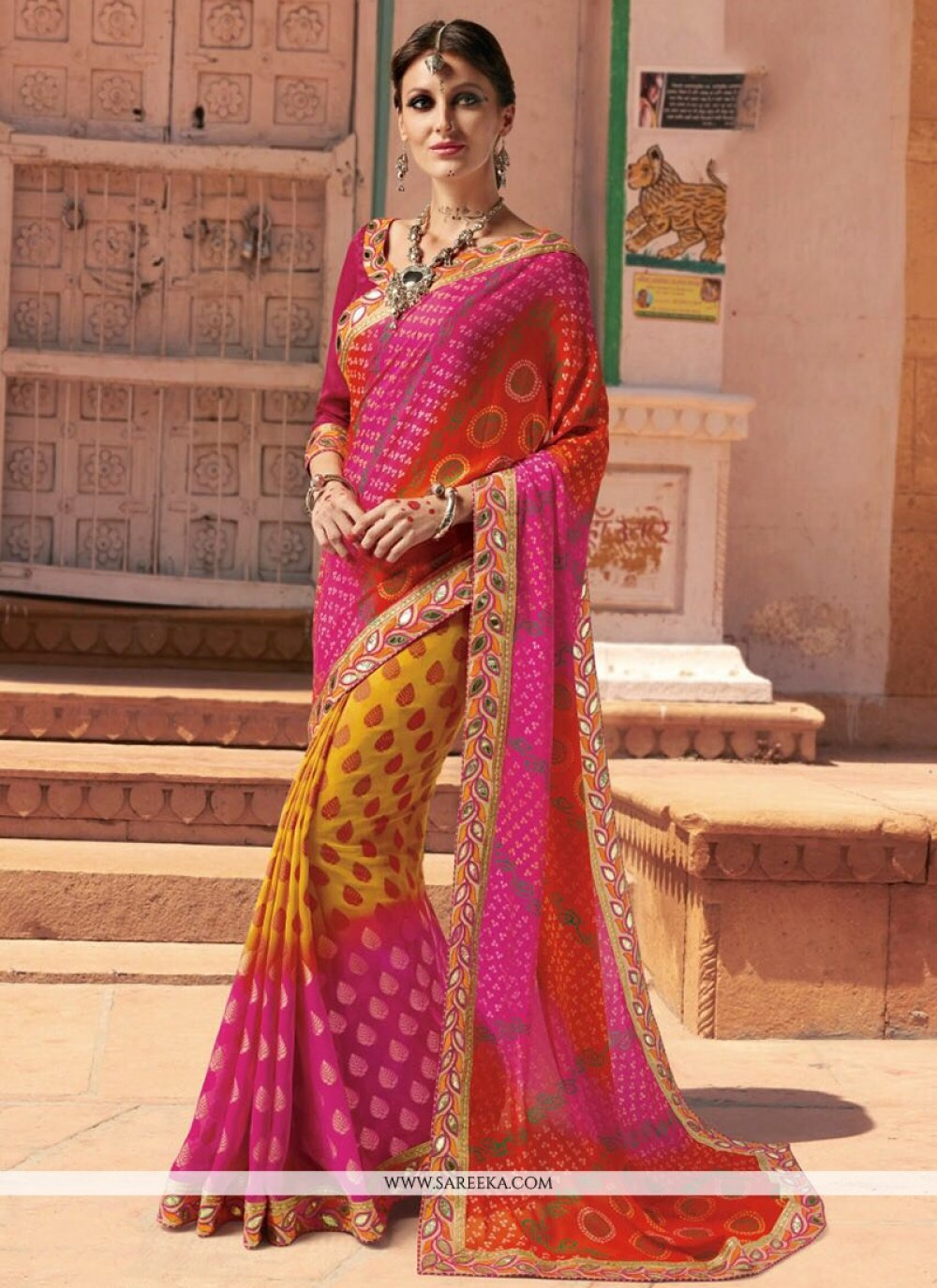 Print Work Printed Saree