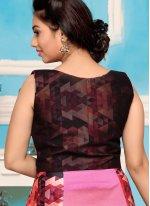 Print Work Readymade Anarkali Suit